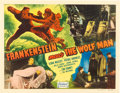 "Movie Posters:Horror, Frankenstein Meets the Wolf Man (Realart, R-1949). Half Sheet (22""X 28"").. ..."