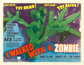 "Movie Posters:Horror, I Walked with a Zombie (RKO, 1943). Half Sheet (22"" X 28"") StyleA.. ..."