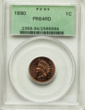 Proof Indian Cents: , 1890 1C PR64 Red PCGS. PCGS Population: (42/24). NGC Census: (23/13). CDN: $465 Whsle. Bid for problem-free NGC/PCGS PR64. ...