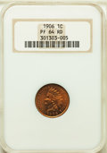 Proof Indian Cents: , 1906 1C PR64 Red NGC. NGC Census: (11/23). PCGS Population: (31/34). CDN: $465 Whsle. Bid for problem-free NGC/PCGS PR64. M...