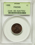 Proof Indian Cents, 1886 1C Type One PR65 Red and Brown PCGS. PCGS Population: (77/41). NGC Census: (53/28). CDN: $450 Whsle. Bid for problem-f...