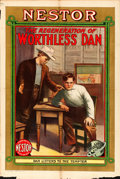 "Movie Posters:Drama, The Regeneration of Worthless Dan (Universal Film Manufacturing,1912). One Sheet (28"" X 42"").. ..."