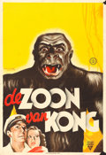 "Movie Posters:Horror, Son of Kong (RKO, 1934). Dutch Poster (24"" X 34.5""). Frans Mettes Artwork.. ..."