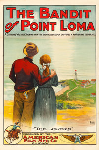 """The Bandit of Point Loma (American Film, 1912). One Sheet (28"""" X 42"""")"""