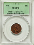 Proof Indian Cents, 1878 1C PR64 Red and Brown PCGS. PCGS Population: (185/74). NGC Census: (89/68). CDN: $400 Whsle. Bid for problem-free NGC/...