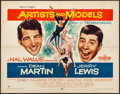"""Movie Posters:Comedy, Artists and Models (Paramount, 1955). Half Sheet (22"""" X 28"""") Style A & Lobby Card Set of 8 (11"""" X 14""""). Comedy.. ... (Total: 9 Items)"""