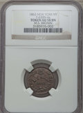 Civil War Merchants, 1863 M. S. Brown Token, New York, NY, AU58 NGC. F-630N-4a. This lotalso includes a 1863 Staudinger's Token, New York,... (Total: 2coins)