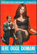 """Movie Posters:Foreign, Yesterday, Today and Tomorrow (Interfilm, 1963). Italian Photobustas (3) (26.75"""" X 38.5""""). Foreign.. ... (Total: 3 Items)"""