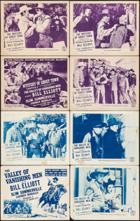 "The Valley of Vanishing Men (Columbia, 1942). Lobby Card Sets of 4 (2 Sets) (11"" X 14"") Chapter 1 -- ""Tro..."