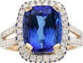 Estate Jewelry:Rings, Tanzanite, Diamond, Sapphire, Gold Ring. ...
