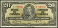 Canadian Currency: , Canada BC-25b $20 1937.. ...