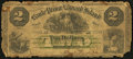 Canadian Currency: , Canada Charlotte Town, PEI- Bank of Prince Edward Island $2 Jan. 1,1877 Ch. # 600-12-08.. ...