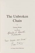 Autographs:Celebrities, Guenter Wendt and Russell Still Signed Book: The UnbrokenChain....