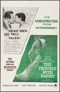 """Movie Posters:Hitchcock, The Trouble with Harry (Paramount, 1955). Military One Sheet (27"""" X41""""). Hitchcock.. ..."""