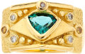 Estate Jewelry:Rings, Tourmaline, Colored Diamond, Diamond, Gold Ring. ...