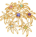 Estate Jewelry:Brooches - Pins, Multi-Stone, Gold Brooch, Tiffany & Co.. ...