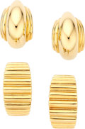 Estate Jewelry:Earrings, Gold Earrings, Tiffany & Co. . ... (Total: 4 Items)