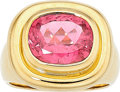 Estate Jewelry:Rings, Pink Tourmaline, Gold Ring, Paloma Picasso for Tiffany & Co.....