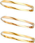 Estate Jewelry:Bracelets, Gold Bracelets, Frank Gehry for Tiffany & Co.. ... (Total: 3Items)