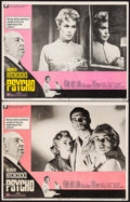 """Movie Posters:Hitchcock, Psycho (Paramount, R-1969). Lobby Cards (2) (11"""" X 14"""").Hitchcock.. ... (Total: 2 Items)"""