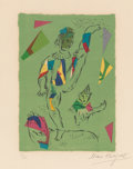 Prints:Contemporary, Marc Chagall (1887-1985). L'Acrobate vert, 1979. Lithographin colors on Arches paper. 12-1/4 x 8-3/4 inches (31.2 x 22....