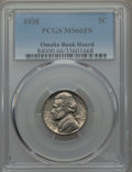 Jefferson Nickels, 1938 5C MS66 Full Steps PCGS. Ex: Omaha Bank Hoard. This lot will include a 1938-D 5C Jefferson MS66 Full Steps PCGS.... (Total: 2 coins)