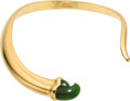 Estate Jewelry:Necklaces, Nephrite Jade, Gold Collar, Elsa Peretti for Tiffany & Co. . ...
