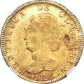 Colombia, Colombia: Republic gold 8 Escudos 1836 BOGOTA-RS MS61 NGC,...