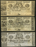 Obsoletes By State:Arkansas, (Fayetteville), AR- State of Arkansas $3; $5; $10 Apr., 1862 Cr. 44A; 52A; 54 . ... (Total: 3 notes)