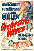 "Movie Posters:Musical, Orchestra Wives (20th Century Fox, 1942). One Sheet (27"" X 41""). Musical.. ..."
