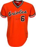 Baseball Collectibles:Uniforms, 1976 Baltimore Orioles Game Worn Jersey Attributed to Paul Blair....