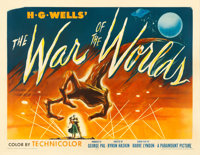 "The War of the Worlds (Paramount, 1953). Half Sheet (22"" X 28"") Style A. Science Fiction"