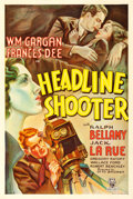 "Movie Posters:Adventure, Headline Shooter (RKO, 1933). One Sheet (27"" X 41"").. ..."
