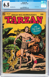 Tarzan #4 (Dell, 1948) CGC FN+ 6.5 Cream to off-white pages