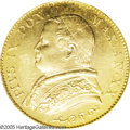 Italy: , Italy: Papal States. Pius IX gold 20 Lire 1866R XX, KM1382.2,reeded edge, MS63 PCGS, very bright and lustrous example and a rared...