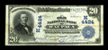 National Bank Notes:Wisconsin, Waupaca, WI - $20 1902 Date Back Fr. 645 The Old NB of Waupaca Ch. # (M)4424. ...