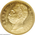 Italy: , Italy: Umberto I gold 100 Lire 1883, KM22, MS61 NGC, fully lustrouswith somewhat reflective fields, a large and impressive gold ty...