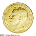 Italy: , Italy: Vittorio Emanuele III gold 50 Lire 1911, KM54, choicebrilliant UNC, very scarce and attractive type commemorating the50th ...