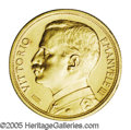Italy: , Italy: Vittorio Emanuele III gold 20 Lire 1912, KM48, AU, lightlycleaned and with a light but noticeable scratch on the reverseex...