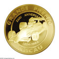 Macao: , Macao: Gold, 10,000 Patacas, 1988, KM43. 35th Anniversary of GrandPrix, AGW 5 oz, Very Choice Proof with a listed mintage of 500 ...