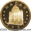 Macao: , Macao: Chinese Administration gold 1000 Patacas 2001, KM105, Proof70 Ultra Cameo NGC, Year of the Snake....