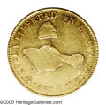 Mexico: , Mexico: Republic gold 8 Escudos 1862Mo-CH, KM383.9, choice AU-UNC,fully lustrous and very well-struck. There is a tiny bit ofpatin...