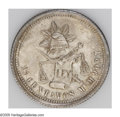 Mexico: , Mexico: Republic 25 Centavos 1884Mo-M, KM406.7, choice toned UNC,fully struck and very attractive, scarcer date....