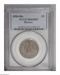 Mexico: , Mexico: Republic 2 Centavos 1920 Mo, KM419, MS65 Brown PCGS. Fullyiridescent with no mentionable flaws....