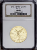 Mexico: , Mexico: Republic gold 1/2 Ounce 2002, KM674, MS70 NGC, wingedvictory design....