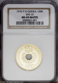Papua New Guinea: , Papua New Guinea: Republic gold 100 Kina 1976, KM10, MS69 Matte NGC, very scarce in Matte with a mintage of 100. Ist anniversary of independen...