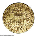 Portugal: , Portugal: Joao III (The Pious) gold Portugues ND (1521-57), Crownedarms of Portugal dividing L-R/Cross of the Order of Christ,Vaz-J3...