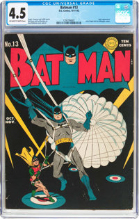 Batman #13 (DC, 1942) CGC VG+ 4.5 Off-white to white pages