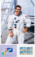 Autographs:Celebrities, Richard Gordon Signed Apollo 12 Philatelic Items (Two) with ColorPhoto.... (Total: 3 Items)