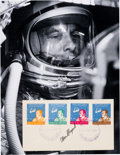 Autographs:Celebrities, Alan Shepard Signed Paraguay Freedom 7 Stamped Cover withPhoto. ... (Total: 2 Items)